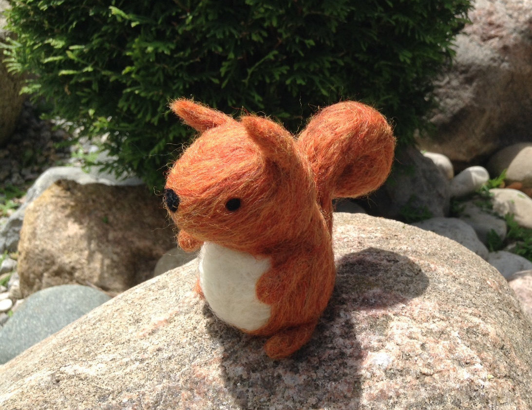 handmade, woodland animal, and red squirrel image