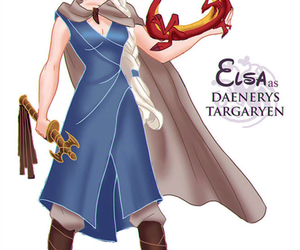 elsa, disney, and game of thrones image