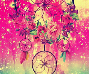 flowers, girly, and dream catcher image