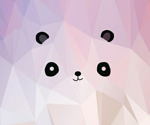 wallpaper, panda, and pink image