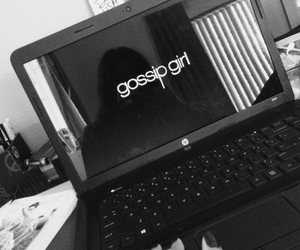 black and white, gg, and gossip girl image