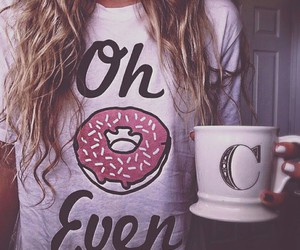 donut and girl image