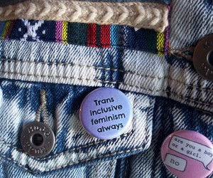 buttons, etsy, and feminism image