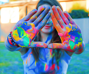 colors, paint, and hands image