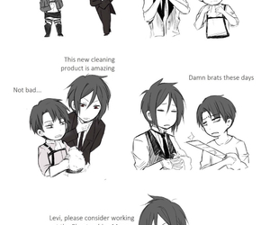 black butler, attack on titan, and anime image