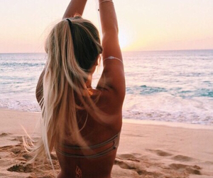 abs, beach, and beautiful image