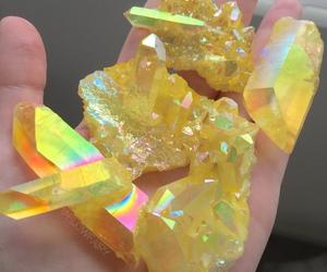 crystal, diamond, and yellow image