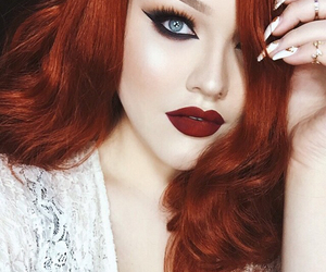 red, beautiful, and beauty image