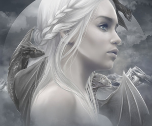 game of thrones, art, and dragon image