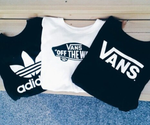 adidas, vans, and black image