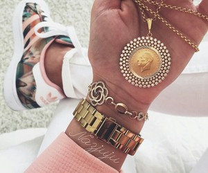 adidas, colier, and gold image