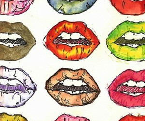 lips, wallpaper, and colorful image