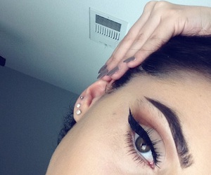 eyebrows, make up, and makeup image