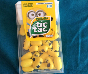 minions, tic tac, and banana image