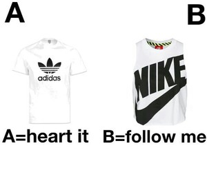 heart it, follow me, and adidas image