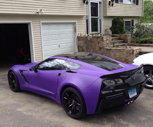 purple, car, and black image