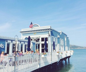blue, relax, and restaurant image