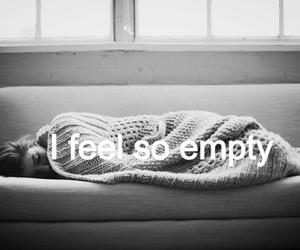 empty, sad, and quote image