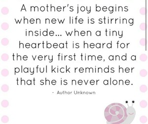 baby, pregnancy, and quotes image