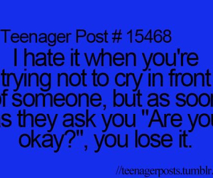cry and teenager post image