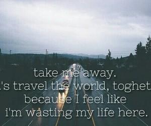 away, sad, and travel image