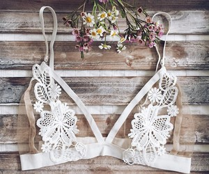 bra and flowers image