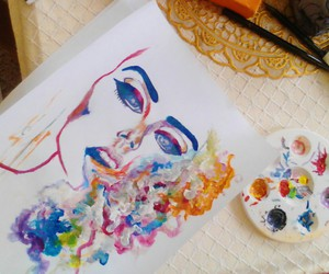 art, colors, and thought image