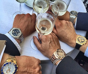 luxury, champagne, and men image