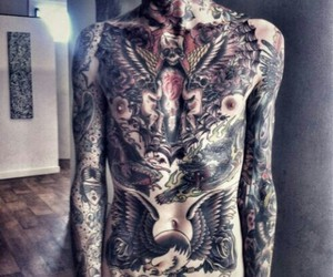 tattoo, oliver sykes, and bring me the horizon image