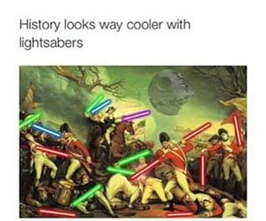 history, funny, and star wars image