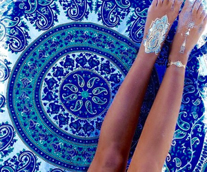 summer, blue, and tattoo image