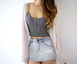 style, jeans, and skirt image