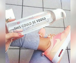 vodka, nike, and water image