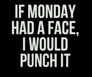 monday, quotes, and punch image