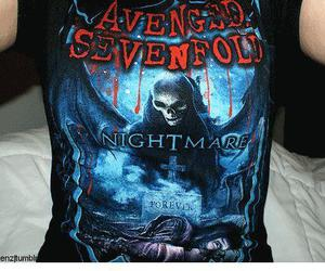 avenged sevenfold, nightmare, and tshirt image
