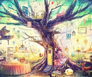 tree, anime, and art image