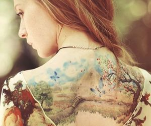 tattoo, watercolor, and nature image