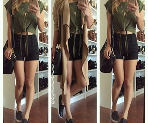 outfit, shorts, and style image
