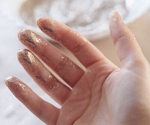 glitter, hand, and gold image