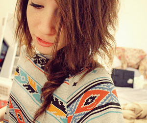 brown hair, colors, and cute girl image