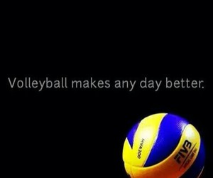 black, blue, and volleyball image