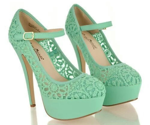 heels, shoes, and green image