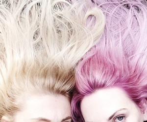 blond, fun, and hair image