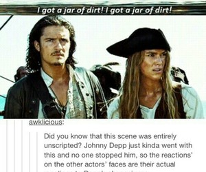 pirates of the caribbean, johnny depp, and funny image