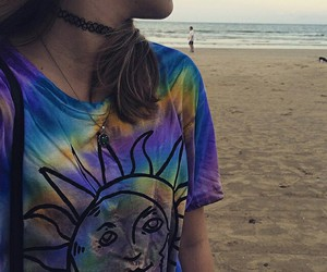 beach, girl, and grunge image