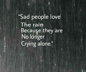 rain, sad, and alone image