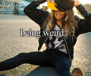 girl, weird, and quote image