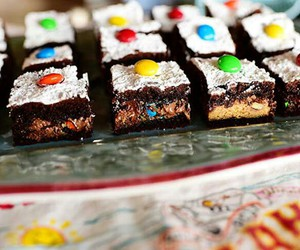 brownie, chocolate, and delicious image