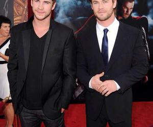liam hemsworth, brothers, and chris hemsworth image