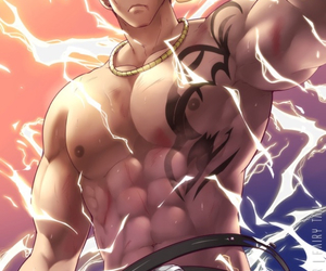 d, fairy tail, and laxus dreyar image